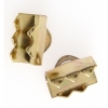 Ribbon/Cord Clamp End Gold 10mm